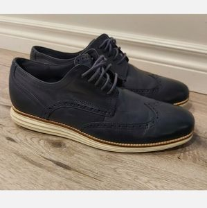 Cole Hann Mens Size US 11 Navy Leather